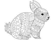 Vettore di coloritura del coniglio per gli adulti illustrazione vettoriale