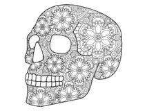 Vettore di coloritura del cranio per gli adulti Immagini Stock Libere da Diritti