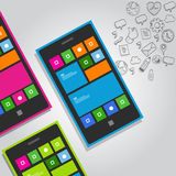 Vettore di concetto dell'icona di funzione dello Smart Phone Immagini Stock Libere da Diritti