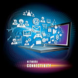 Vettore di concetto di connettività di rete Immagine Stock
