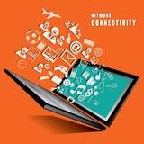 Vettore di concetto di connettività di rete Fotografie Stock