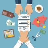 Vettore di concetto di divorzio Fotografie Stock Libere da Diritti