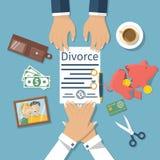 Vettore di concetto di divorzio Immagini Stock Libere da Diritti