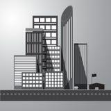 Vettore di costruzione urbana grafica Immagine Stock