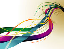 Vettore di curvatura di colore royalty illustrazione gratis
