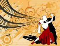 Vettore di dancing delle coppie Immagine Stock