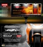 Vettore di Digital, pubblicità del lightbox con il profumo Immagine Stock Libera da Diritti