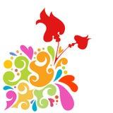 Vettore di disegno floreale Immagine Stock Libera da Diritti