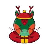 Vettore di Dragon Chinese Happy New Year Immagine Stock