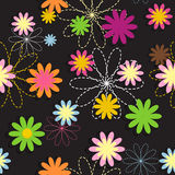 Vettore di Flora Flower Seamless Pattern Design Fotografie Stock Libere da Diritti