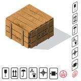 Vettore di legno del contenitore di carico Fotografia Stock Libera da Diritti