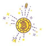 Vettore di logo di Bitcoin Fotografia Stock