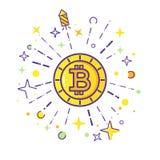 Vettore di logo di Bitcoin Fotografia Stock Libera da Diritti