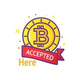 Vettore di logo di Bitcoin Fotografie Stock