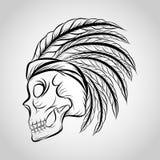 Vettore di logo del cranio royalty illustrazione gratis