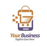 Vettore di logo del deposito di Smartphone illustrazione di stock