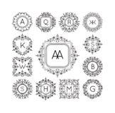 Vettore di logo del monogramma royalty illustrazione gratis