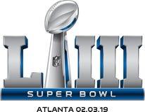 Vettore di logo del Super Bowl LIII illustrazione vettoriale