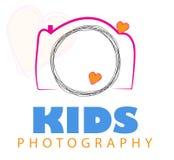 Vettore di logo della macchina fotografica. illustrazione di stock