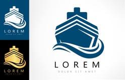 Vettore di logo della nave illustrazione di stock