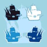 Vettore di logo della nave Fotografie Stock