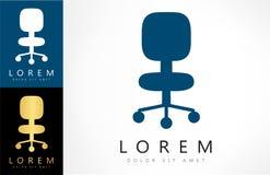 Vettore di logo della sedia dell'ufficio royalty illustrazione gratis