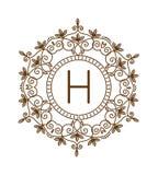 Vettore di logo di bage del monogramma Fotografia Stock Libera da Diritti