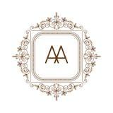 Vettore di logo di bage del monogramma Immagine Stock Libera da Diritti