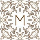 Vettore di logo di bage del monogramma Fotografie Stock