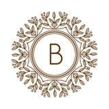 Vettore di logo di bage del monogramma Fotografie Stock Libere da Diritti