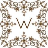 Vettore di logo di bage del monogramma royalty illustrazione gratis
