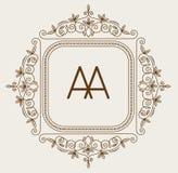 Vettore di logo di bage del monogramma illustrazione di stock