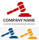 Vettore di logo di Gavel Fotografia Stock Libera da Diritti