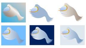 Vettore di logo di pace di mondo di concetto illustrazione di stock
