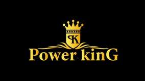 Vettore di logo di re di potere illustrazione di stock