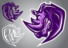 Vettore di logo di rinoceronte Immagine Stock