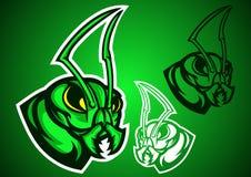 Vettore di logo di verde di Grasshopperant Fotografie Stock