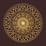 Vettore di lusso del fondo del cerchio del fiore del diamante royalty illustrazione gratis