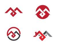 Vettore di m. Letter Logo Template Fotografia Stock