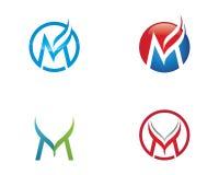 Vettore di m. Letter Logo Template Fotografie Stock