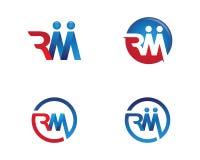 Vettore di m. Letter Logo Template Immagine Stock