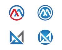 Vettore di m. Letter Logo Template Immagine Stock Libera da Diritti