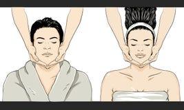 Vettore di massaggio - uomo/donna Immagine Stock Libera da Diritti