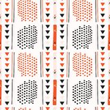 Vettore di Memphis Style Geometric Abstract Seamless rosso e nero Royalty Illustrazione gratis
