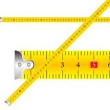Vettore di misurazione del nastro Fotografie Stock Libere da Diritti