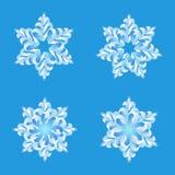 Vettore di origami dei fiocchi di neve Buon Natale e hap Immagine Stock Libera da Diritti