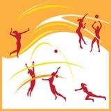 Vettore di pallavolo della donna royalty illustrazione gratis