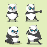 Vettore di Panda Cute Character Collection Set Immagine Stock Libera da Diritti