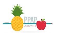 Vettore di Pen Pineapple Apple Pen Fun immagine stock libera da diritti