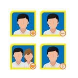 Vettore di Person Avatar Icon Symbol Design Fotografia Stock